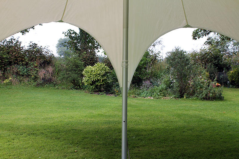 Star Canopy 12m & 12m Star - Providing shade for garden parties and festivals
